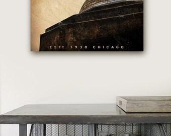 Adler Planetarium Chicago landmark graphic art on gallery wrapped canvas by Stephen Fowler