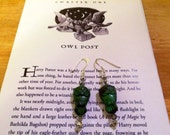 Harry Potter Inspired Owl Earrings in Slytherin Colors