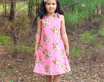 A-line Dress Pattern  by Whimsy Couture Sewing Pattern with Ruffle Option 12 m - 10 girls PDF Instant Download
