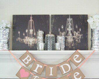 Bride to Be Banner-Custom Colors-Wedding Photo-Bachelorette Party-Bridal Shower Decoration- Wedding Sign-Engagement Banner-garlands-signage