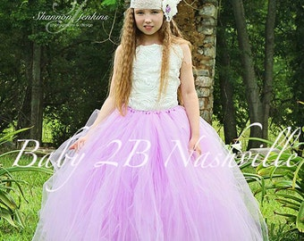 Vintage Dress Lilac Dress  Flower Girl Dress  Spring Wedding Dress Satin Rosette  Dress Tutu Dress Baby Dress Toddler Dress Girls Dress