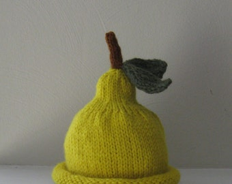 Pear Hat for Babies - 3-6 Months - Made-to-Order