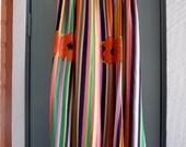 vintage 60s 70s rainbow floral maxi skirt