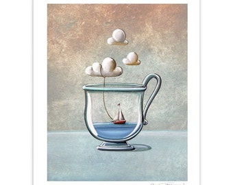 Seafarer Series Limited Edition - The Steam Boat - Signed 8x10 Matte Print (8/10)