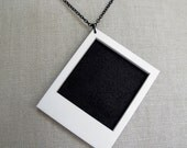 Long Live the Polaroid Photo Necklace - Wear it plain or put one of your favorite photos in it