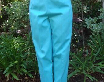 Vintage Aqua High-Waisted Petite Trouser S/M