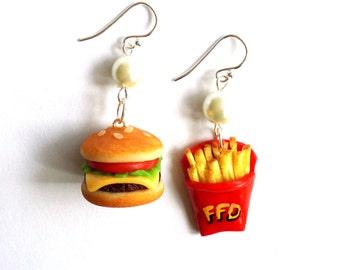 Fast Food Earrings Burger Earrings French Fry Earrings ...