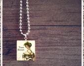 Jane Austen - Scrabble Tile Art Pendant -Team Bennet - Scrabble Jewelry Charm - Customize
