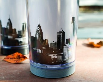 READY TO SHIP: Philadelphia Skyline Travel Mug