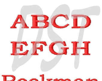 "Bookman Embroidery Font  in 3 Sizes - 2"", 3"", 4"" FILL - DST files"