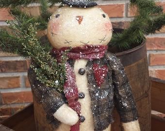 Instant Download Sam Primitive Snowman Epattern