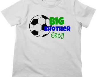 Big Brother Soccer Shirt or Bodysuit - Personalized Sibling Shirt