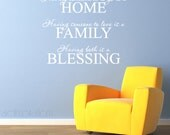 Home Family Blessing Vinyl Wall Letters