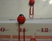 Lady Bug Paperclip Bookmarks Set of 2