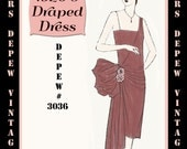 Vintage Sewing Pattern Instructions 1920's Flapper Easy Draped Dress Ebook Depew 3036 -INSTANT DOWNLOAD-