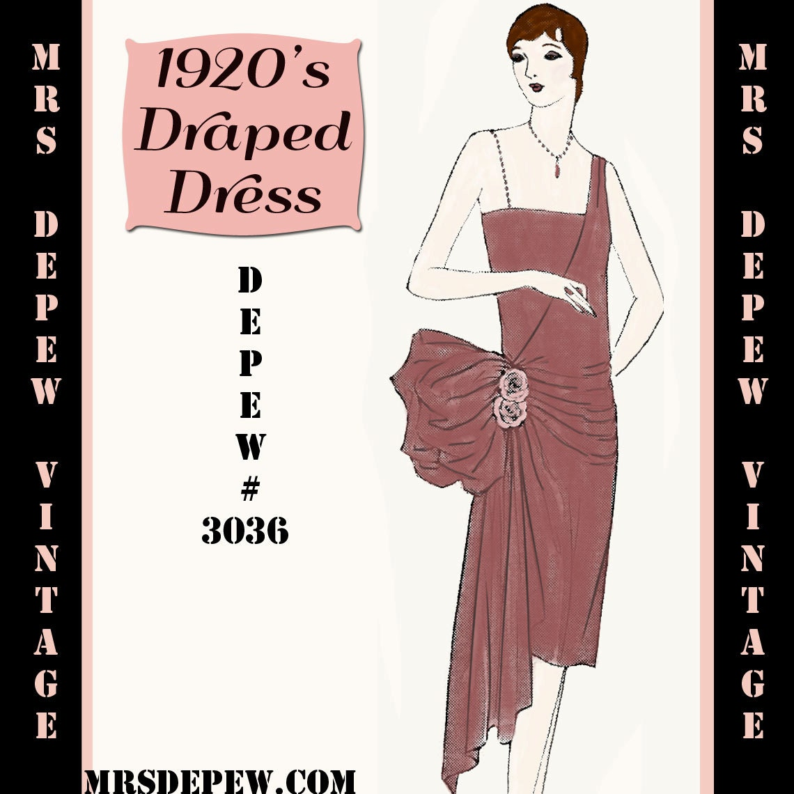 Vintage Sewing Pattern Instructions 1920's Flapper Easy