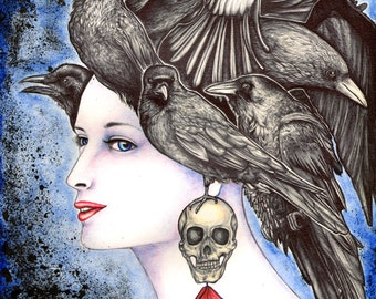 Raven Hair 8x10 archival giclee print