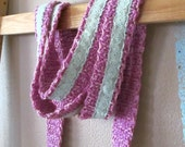 SKINNY SCARF ORCHID Hipster Long