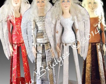 "Sweet Inspiration Basic Cage Doll Angel Instant Download EPattern PDF Instructions for 22"" Doll Sewing and Painting Pattern by Edna Bridges"