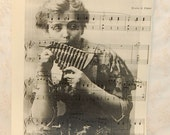 Vintage Pipes of Pan Peter Pan 1934 Sheet Music with Image of Peter Pan