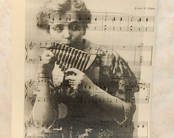 Vintage Pipes of Pan Peter Pan 1934 Sheet Music with Image of Peter Pan