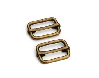 """30pcs - 3/4"""" Adjustable Slide Buckle - Antique Brass - Free Shipping (SLIDE BUCKLE SBK-114)"""