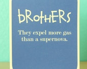 Brothers card - funny card - humorous - birthday card