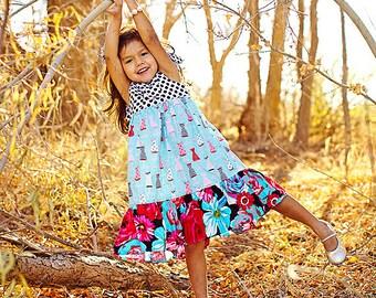Girls Dress -  Play Dress - Fun Dress