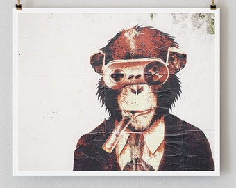 "SALE! Paris Photography, ""Graffiti Monkey"" Paris Print, Large Art Print Fine Art Photography"
