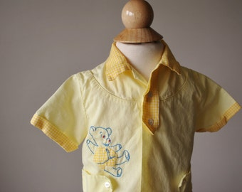 1950s Teddy Bear Set, size 6 Months