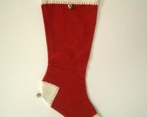 Vintage Red Christmas Stocking with Name Kristen