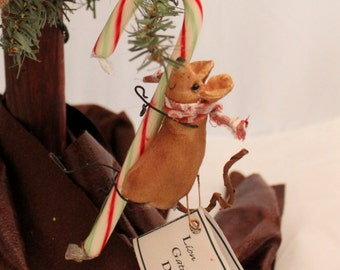 Mouse Ornament, Stuffed Mouse, Mice, Mouse in the House Ornament