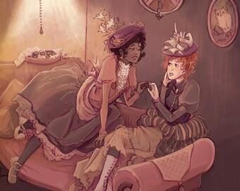 Bonbons 8x10 steampunk art print