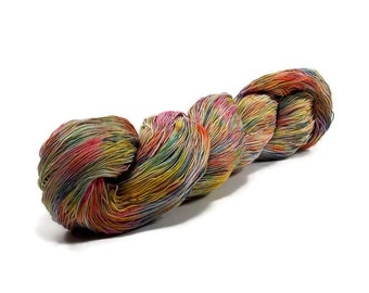 150 Yards Hand Dyed Cotton Crochet Thread Size 10 3 Ply Specialty Thread 7 Colors of the Rainbow Hand Painted Fine Cotton Yarn