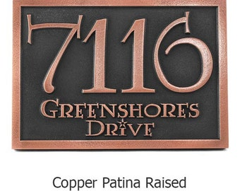 Harry Potter Lumos Font Address Numbers Sign 17x12  Made in USA by Atlas Signs and Plaques