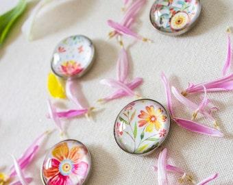 Magnet Set | Let Go | Floral | Katie Daisy
