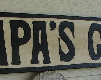 Papa's Garden sign