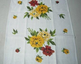 Vintage Towel Fab Fall Peonies MWT