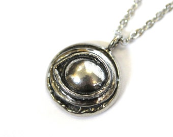Silver Eye of the Raven Protection Amulet Solid Sterling Silver Raven Eye Pendant Necklace 055