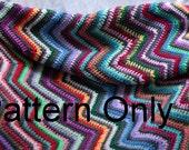Crochet ripple blanket pattern