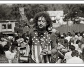 Hippie, ADORNED MUSICIAN, Clyde Keller Photo, 16x20 inch Fine Art Print, Black and White, see Huff Post Article, Ken Kesey, published image