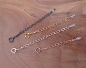 Necklace Extender Chain, Gold Extender Chain, Rose Gold Filled Extender, Sterling Silver Extender, Oxidized Silver Extender, Extension Chain