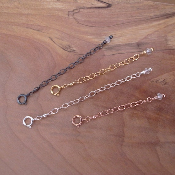 Necklace extender chain gold extender chain rose gold filled