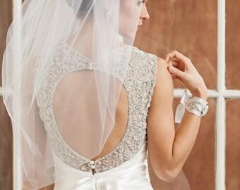 Wedding veil, Bridal Veil, Bubble Veil, Tulle Veil, Ivory Veil, White Veil, Champagne veil
