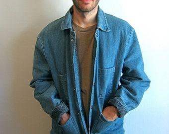 Blue 1950's Denim Work Wear Coat