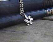 Snowflake Necklace - Christmas - Winter - Snow - Under 25 - Modern - Rustic - Simple - cynicalredhead