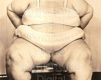Baby Betty, 650 Pounds - Obese Woman - Vintage Photo Digital Download