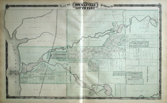 1878 Large Rare Vintage of South Bowmanville Ontario Canada