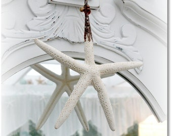 Starfish & Antique Copper Ornament - Beach Cottage Decor