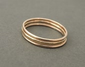 Rose Gold Rings thick and thin mixed 14 k rose gold filled stacking rings super thin stackable rings